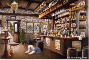 Old Pub with a Dog