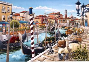 Venetian Lagoon in Italy