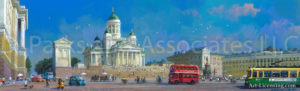 Finland-Helsinki Senate Square-Panorama