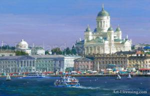Finland-Helsinki-Skyline