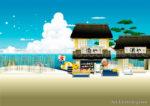 Japanese Beach Shop Summer