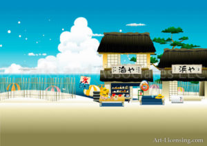 Japanese Beach Shop Summer