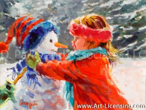 Snowman and a Girl