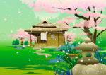 Tea House Spring Cherry Blossom