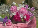 00010-Pink Peony-Bell Flower Bouquet