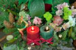 00024-Christmas Flowers, Red and Green Candles