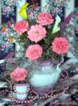00056-Pink Roses Flower Arrangement
