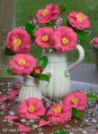 00173-Camellia in White Pitcher