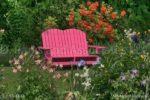 00914-Flower Garden Pink Bench