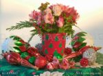 00925-Christmas, Alstroemeria, Rose, Hypericum