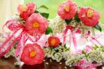 0198-Pink Camellia Bouquet