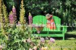 0842-Garden-Green Bench