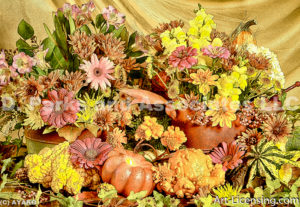 0956-Fall Flower arrangement