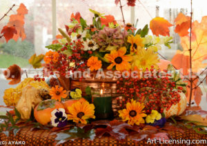 1098-Autumn Flower Arrangement