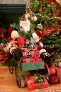 2142-Christmas decoration room and Santa