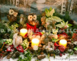 2479-Christmas Candles and Animals outdoor decoration