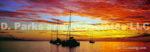 Tahiti Boats at Sunset