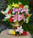 3142- Lilies and Garberas Bouquet