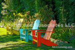 3789-Red Blue Yellow Benches
