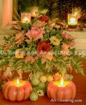 4080-Fall Setting-Rose-Candle