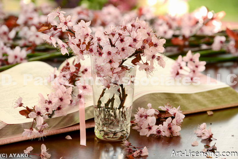 4147-Cherry Blossom and Candles
