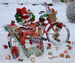 4804-Christmas Presents on Bicycle on Snow
