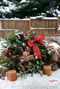 5446-Christmas Wreath on Snow
