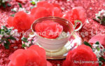 6203-Red Roses in Tea cup