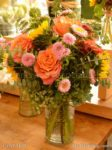 7332 Orange Rose Pink Aster Bouquets