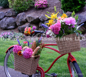9052S-Flower Bouquet on the Bycicle