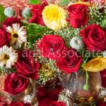 Red Rose Arrangement in Vase