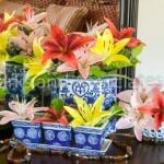 Lillies in Oriental Vases