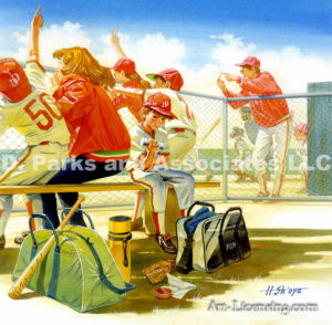 Baseball-Bench Warming