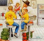 Camping Break in Diner