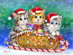 Kayomi Harari - Christmas Cute Kittens, Tiger Cubs, and Eagle