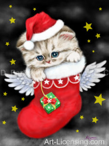 Angel Santa Kitten-A