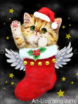 Angel Santa Kitten-B