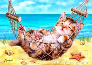 Beach Hammock Kitten