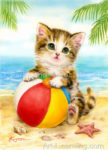 Beachball Kitten