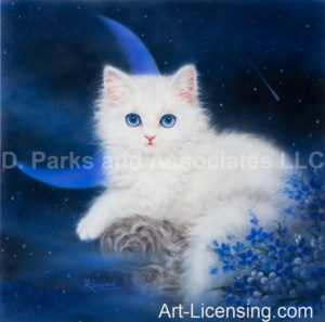 Blue Moon White Kitten