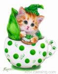 Cup Kitten Green Peas