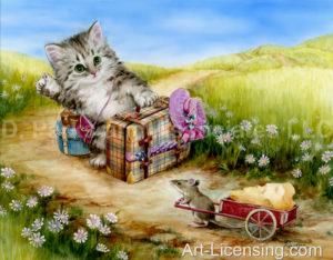 Hitch Hike Kitten