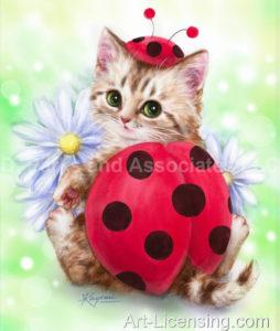 Kitten Red Ladybug
