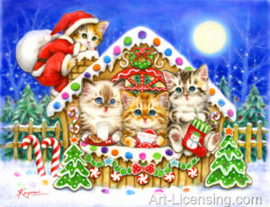 Kittens at Gingerbread House