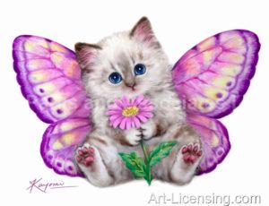 Pink Butterfly Kitten