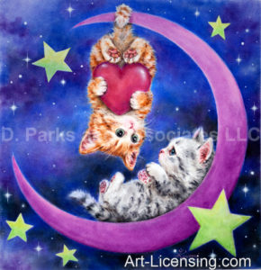 Romantic Moon Kittens