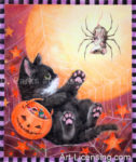 Scary Spider Halloween Kitten