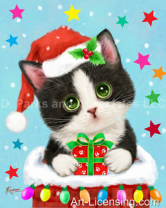 Tuxedo Kitten on Chimney