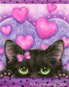 Valentine Black Cat In Love