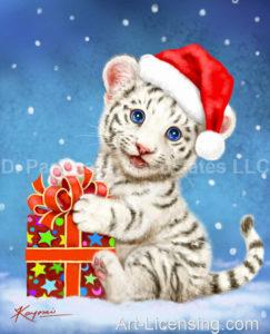 White Tiger Cub's Christmas Gift